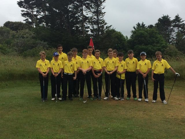 7b31afb32d Yesterday saw the inaugural match of the revamped U12 Cornwall Team as they  took on the U14 Development squad on the Holywell Course at St Enodoc Golf  Club.